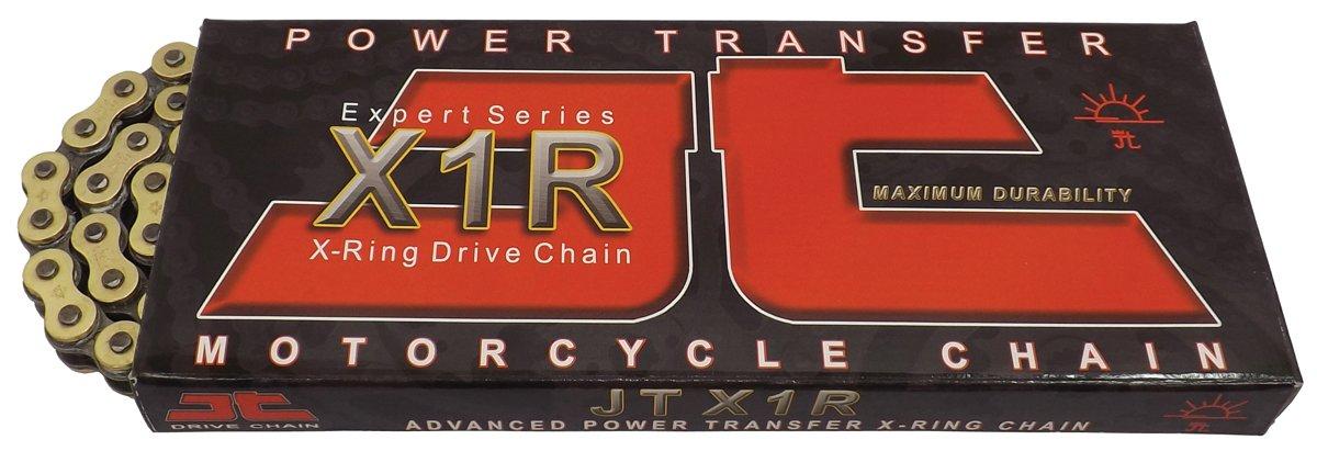 JT Sprockets (JTC520X1RGB114RL) Gold/Black 114-Link 520 X1R Heavy Duty X-Ring Drive Chain