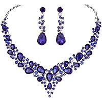 Mumiumius Pendientes de Gota Colgantes de Collar de Diamantes de imitación de Moda para Mujer Conjunto de Joyas Regalos Juegos de Joyas