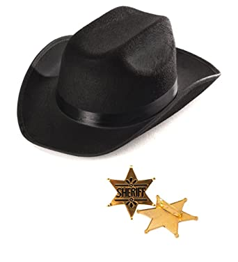 Kids Western Costume - Cowboy Accessories - Sheriff Hat with Toy Police Badges by Funny Party  sc 1 st  Amazon.com & Amazon.com: Kids Western Costume - Cowboy Accessories - Sheriff Hat ...