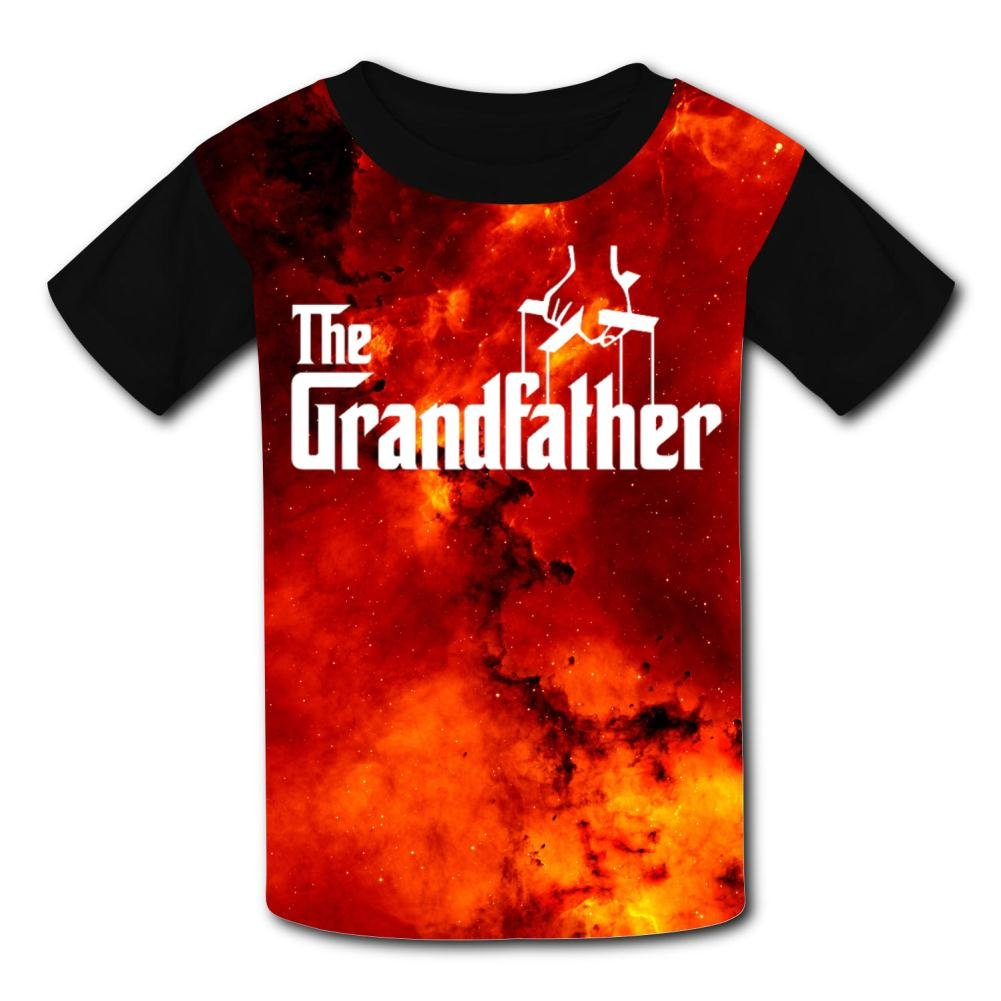 Aslgisy The Grandfather Casual T-Shirt Short Sleeve for Kids