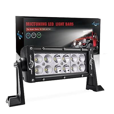 MICTUNING 7.5 Inch 36W Combo Led Light Bar - 2500 Lumen, 6000-6200K Crystal White, Waterproof for Off-Road Jeep ATV UTV SUV Truck Boat: Automotive