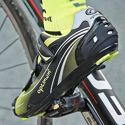 Optimum Nitebrite - Zapatillas de ciclismo de sintético para hombre negro - Black (Black/Green)