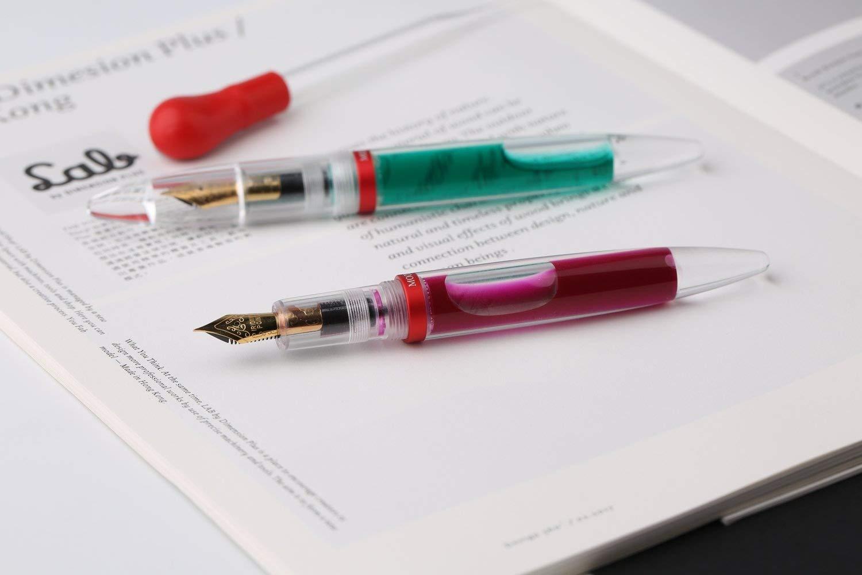Eye Dropper riempimento penna stilografica fine, trasparente grande capacità colorato inchiostro memorizzazione Pen Gift Box set Lanxivi