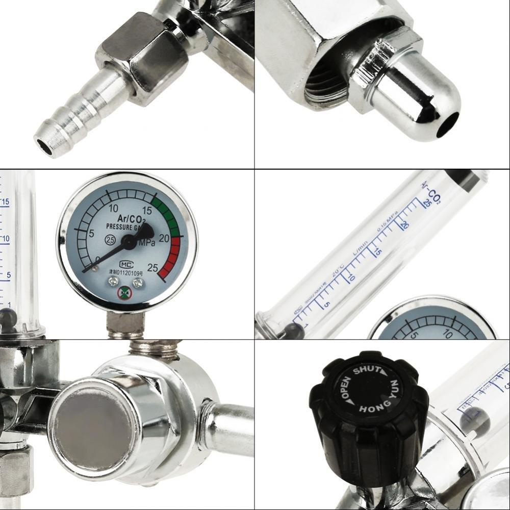 R/égulateur Pression Gaz 0-25MPa Argon Jauge de R/égulateur Pression D/ébitm/ètre Pour Soudure Mig Tig Contr/ôle
