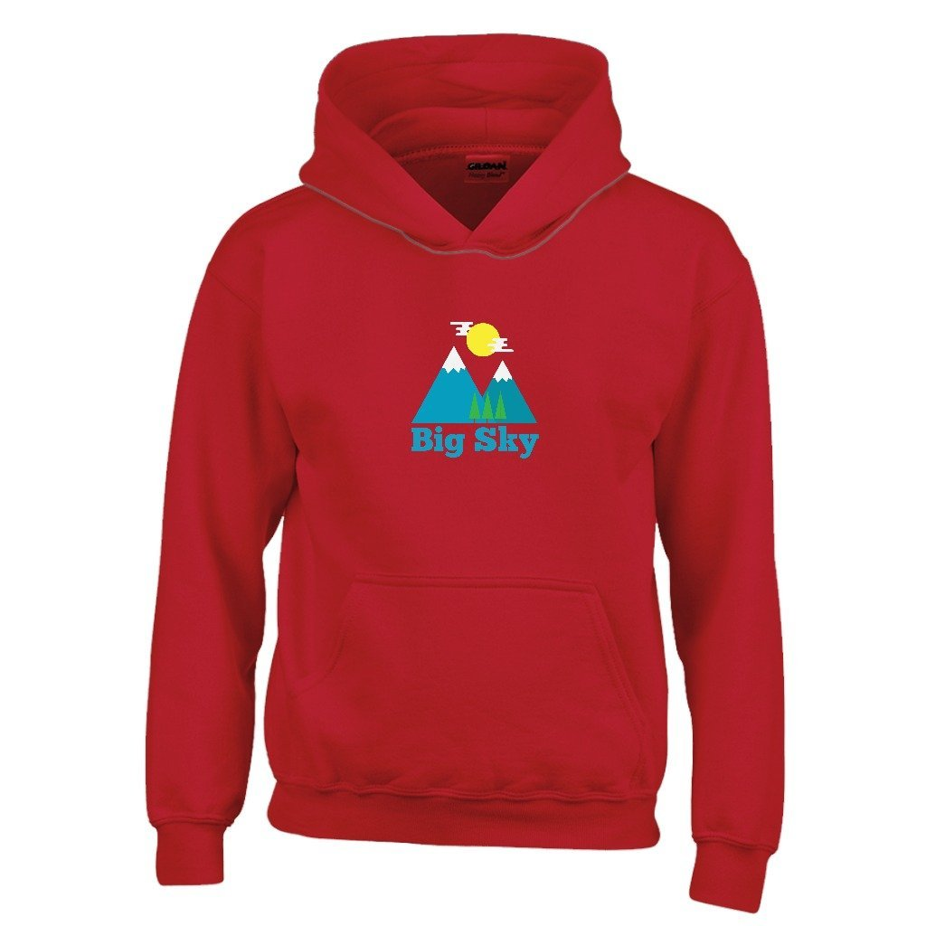 Bozeman Bluebird Day Youth Hoodie Montana Kids Sweatshirt