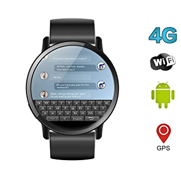 Amazon com: QKa Smart Watch, Android 7 1, 4G 2 03 Inch