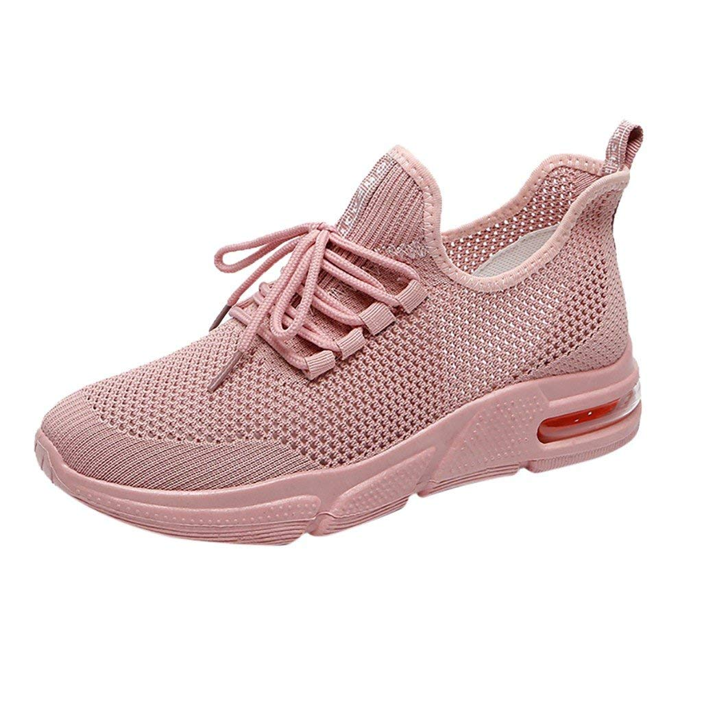 Lloopyting Women's Running Walking Fitness Jogging Cross Training Gym Shoes Lightweight Non-Slip Gym Athletic Sneakers Pink