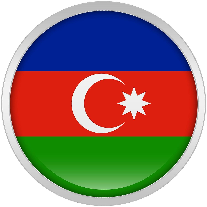 Cuerpo Caramelo Acero Inoxidable Bandera del Azerbaiyán Dilatador Ajuste Rosca Par 18mm: Amazon.es: Joyería