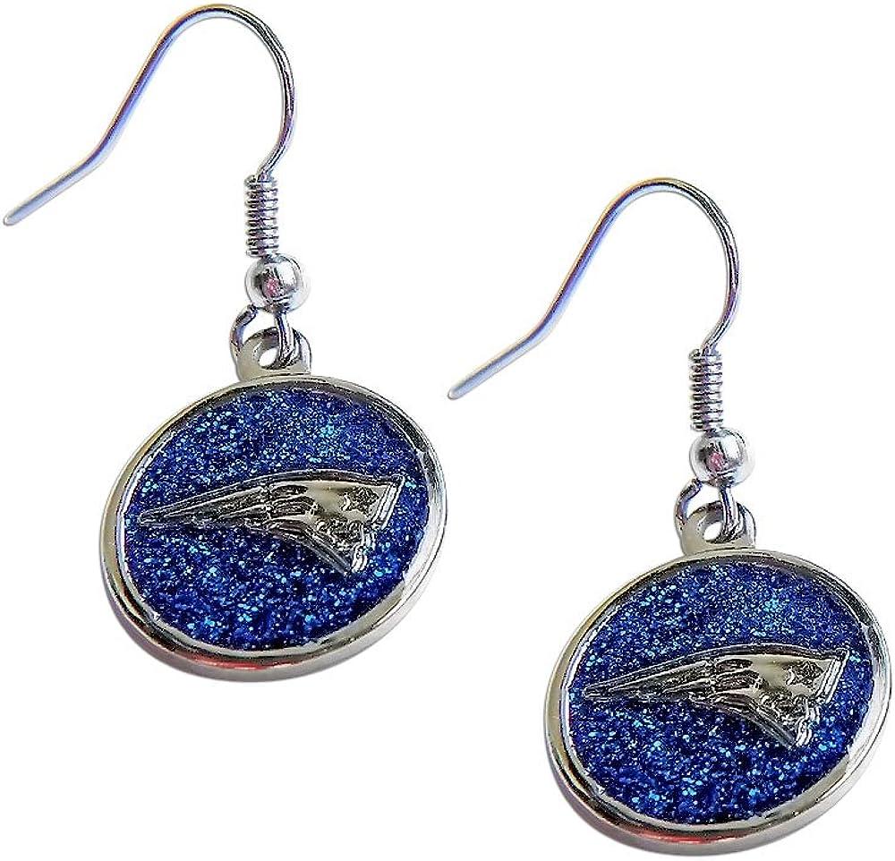 NFL Glitter Dangler Earrings