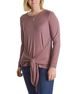 2033da8325e9 Ex Marks & Spencer Womens Ladies Long Sleeve Fine Rib Dusky Pink Stretch  Wrap Tie Front