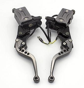 "FXCNC Motorcycle Master Cylinder Reservoir Brake Clutch Hydraulic Levers 7//8/"""