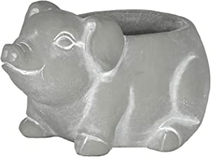 Classic Home and Garden 260014P-396 Piglet Planter, Small, Natural