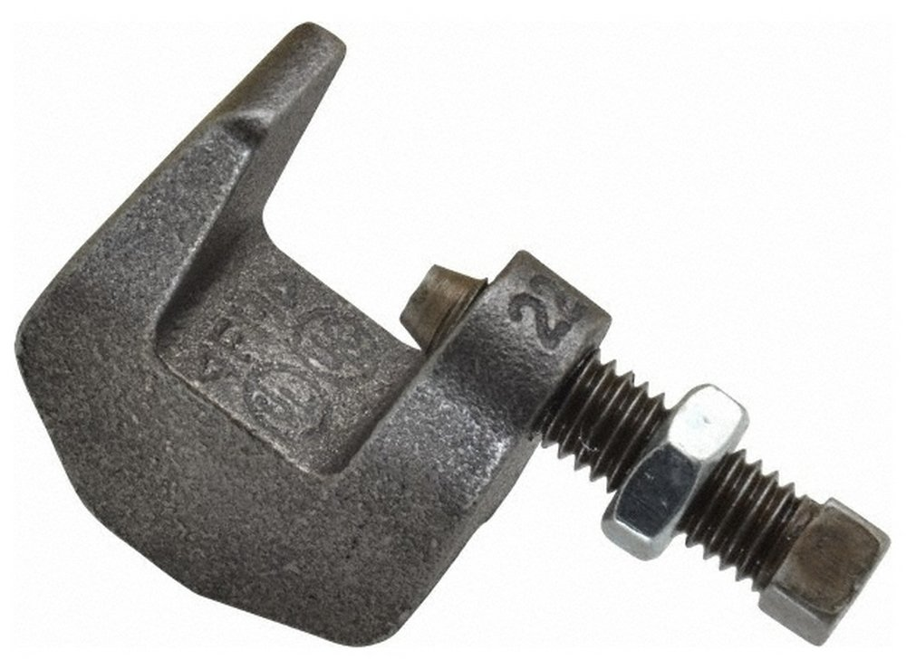 3/4'' Max Flange Thickness, 3/8'' Rod C-Clamp, 250 Lb Capacity, Ductile Iron