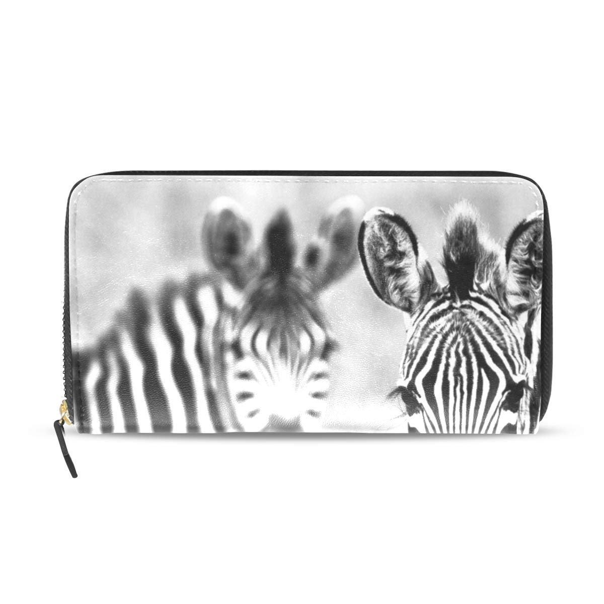 Womens Wallets Zebra Leather Passport Wallet Coin Purse Girls Handbags