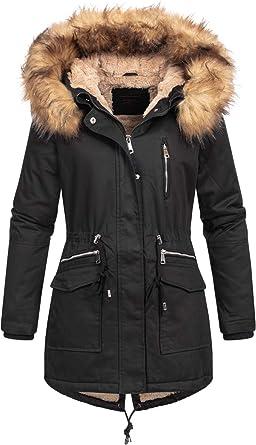 Megusto - Parka de Invierno para Mujer, Abrigo, 100% algodón ...