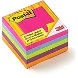 Bloco de Notas Adesivas Post-it Cubo Tropical 76 mm x 76 mm - 450 folhas