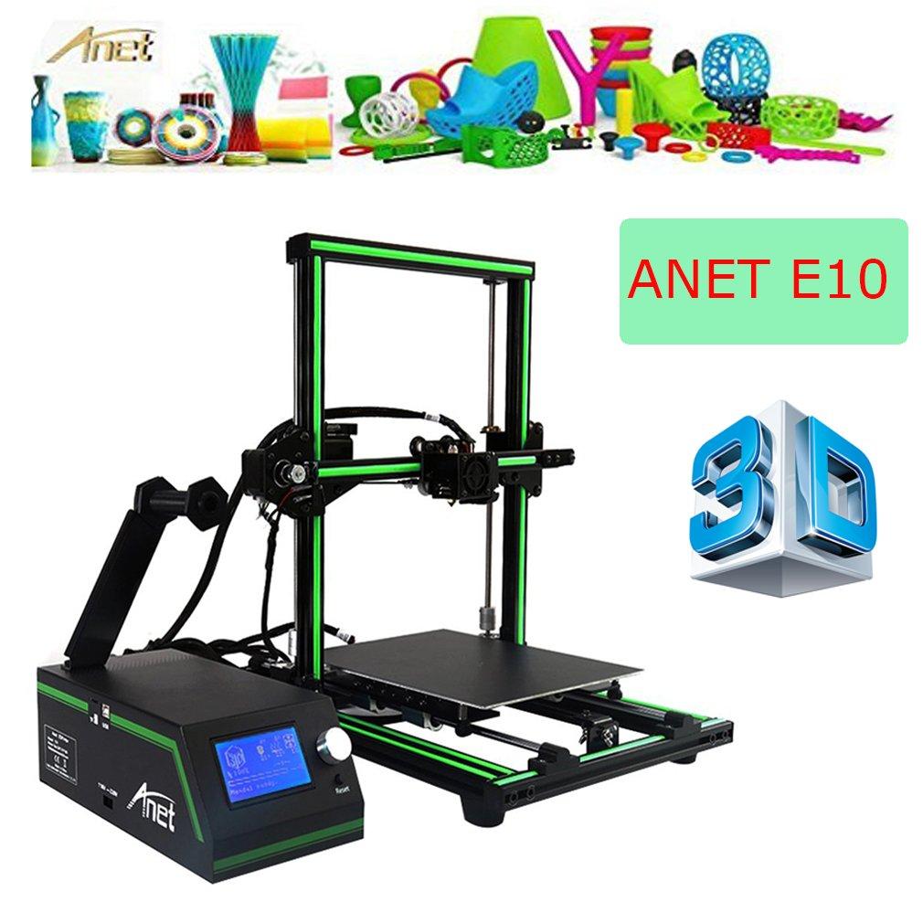 3D Drucker, ANET E10 3D Printer DIY Upgradest High Precision Reprap Prusa Print object size: 220 * 270 * 300mm mit LCD12864 Arbeitet mit PLA ABS Filamenten fü r DIY (Grü n)