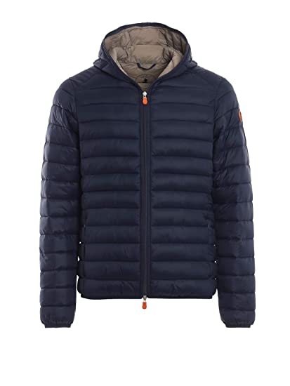 SAVE THE DUCK Giacca Outerwear Uomo D3065MGIGA70009 Poliammide Blu ... 3425f83e6468