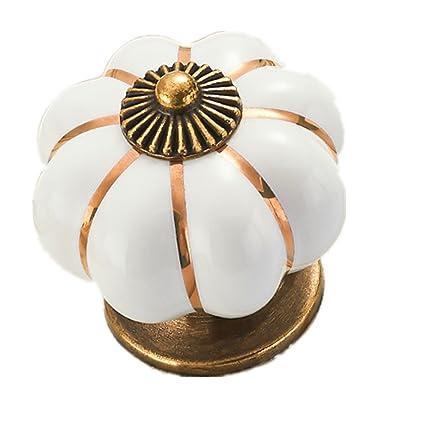 amazon com eleoption 10pcs drawer pulls and knobs 40mm ceramic rh amazon com