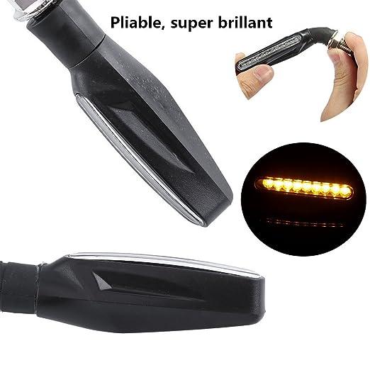Motocicleta Intermitentes LED Blink lámpara Intermitente Leuchten Dirección Delanteros 4 Unidades
