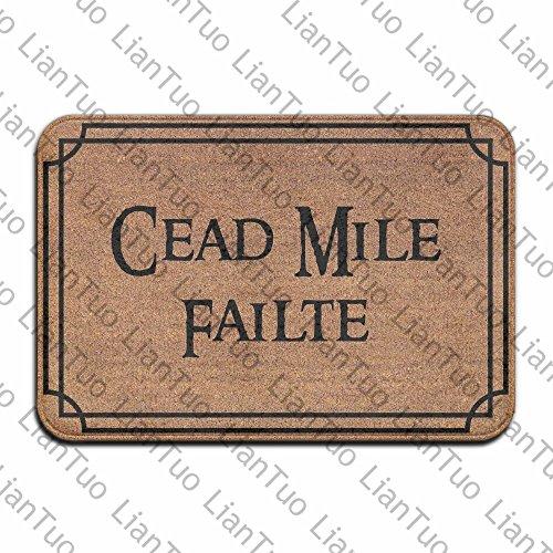 Cead Mile Failte Cool 15.7 X 23.6 in Absorbent Non Slip Floor Rug Carpet Door Mat
