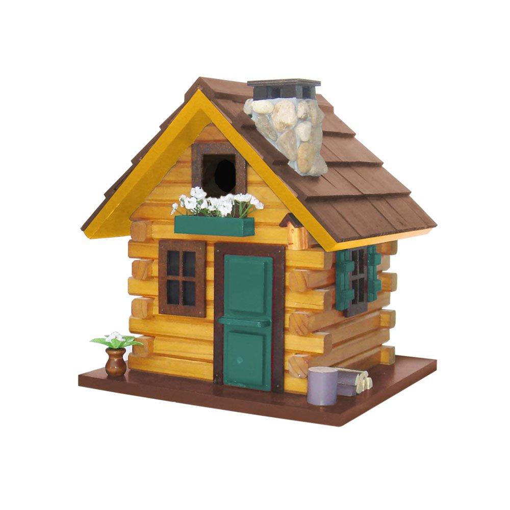 Home Bazaar Country Comfort Bird House, Browns/Green