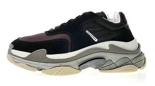 Balenciaga Triple S Black WO9S1 1214 Hombre Zapatos: Amazon.es: Zapatos y complementos