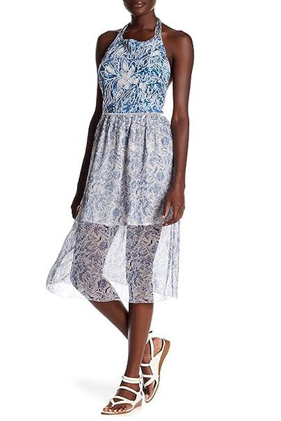 ddbef963ef0 Gypsy05 Embroidered   Pattern Halter Midi Dress