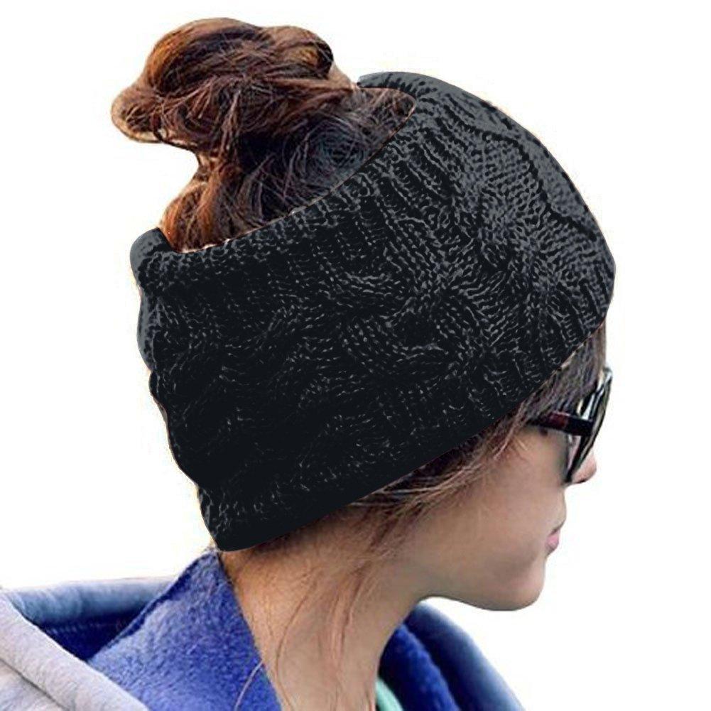 TININNA Inverno Caldo maglia Warmer orecchio Cerchietto Fascia per capelli Turbante Copricapo Accessori per capelli per le donne ragazze Beige