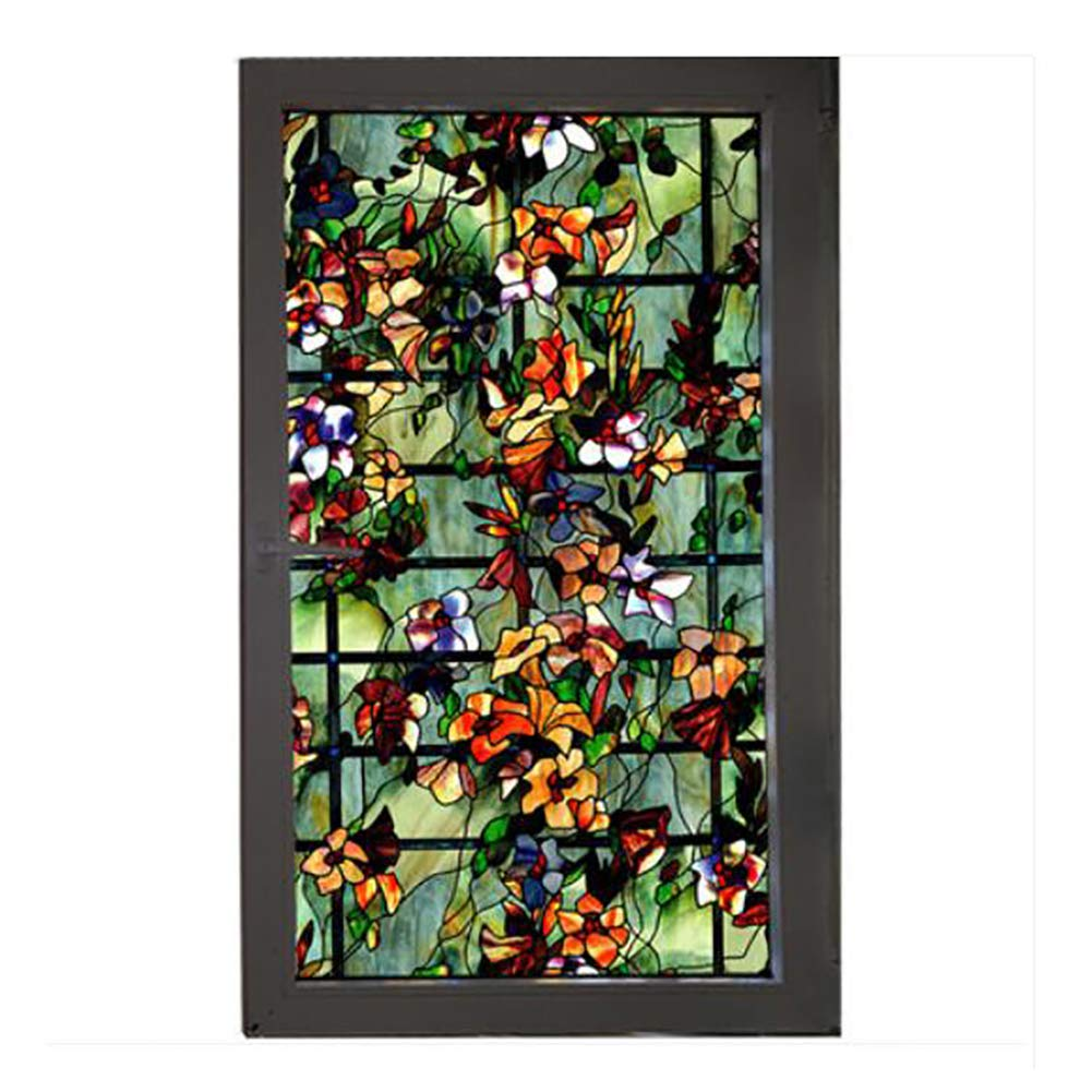 LOVEGLASS Privacy Window Film,Stained Glass Window Not-Adhesive Static Cling Glass Film for Door Home Office Hotel Bathroom Living Room-a 100x122cm(39x48inch) by LOVEGLASS