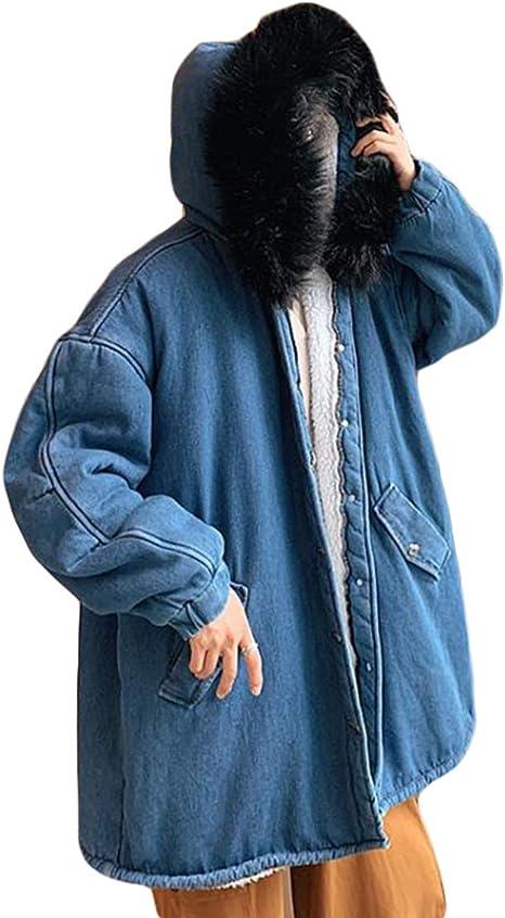 Ptorコート メンズ フード付き デニムジャケット 裏起毛 ファー付き あったか ジージャン 裏ボア 防寒 ゆったり アウター カジュアル おしゃれ ジャケット 冬