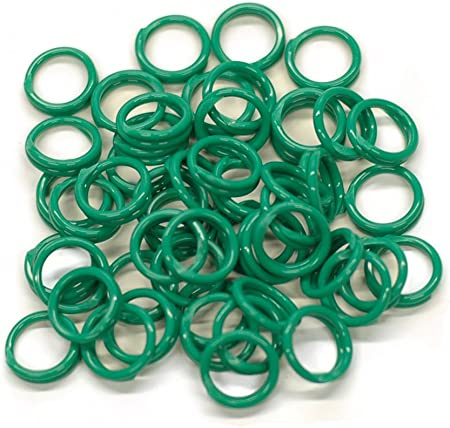 """50 GREEN Poultry Spiral ID Leg Bands Standard Chicken Size 11//16/"""" Single Color"""