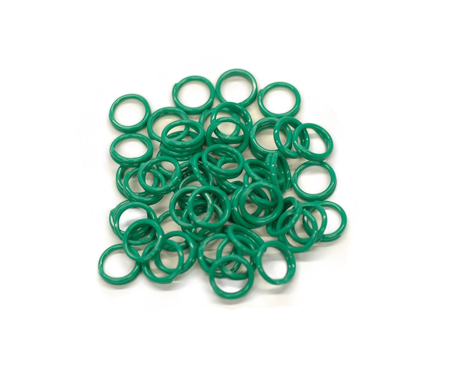 Brower 398N9CG 9/16-Inch Spiral Leg Bands, Green (Pack of 100)