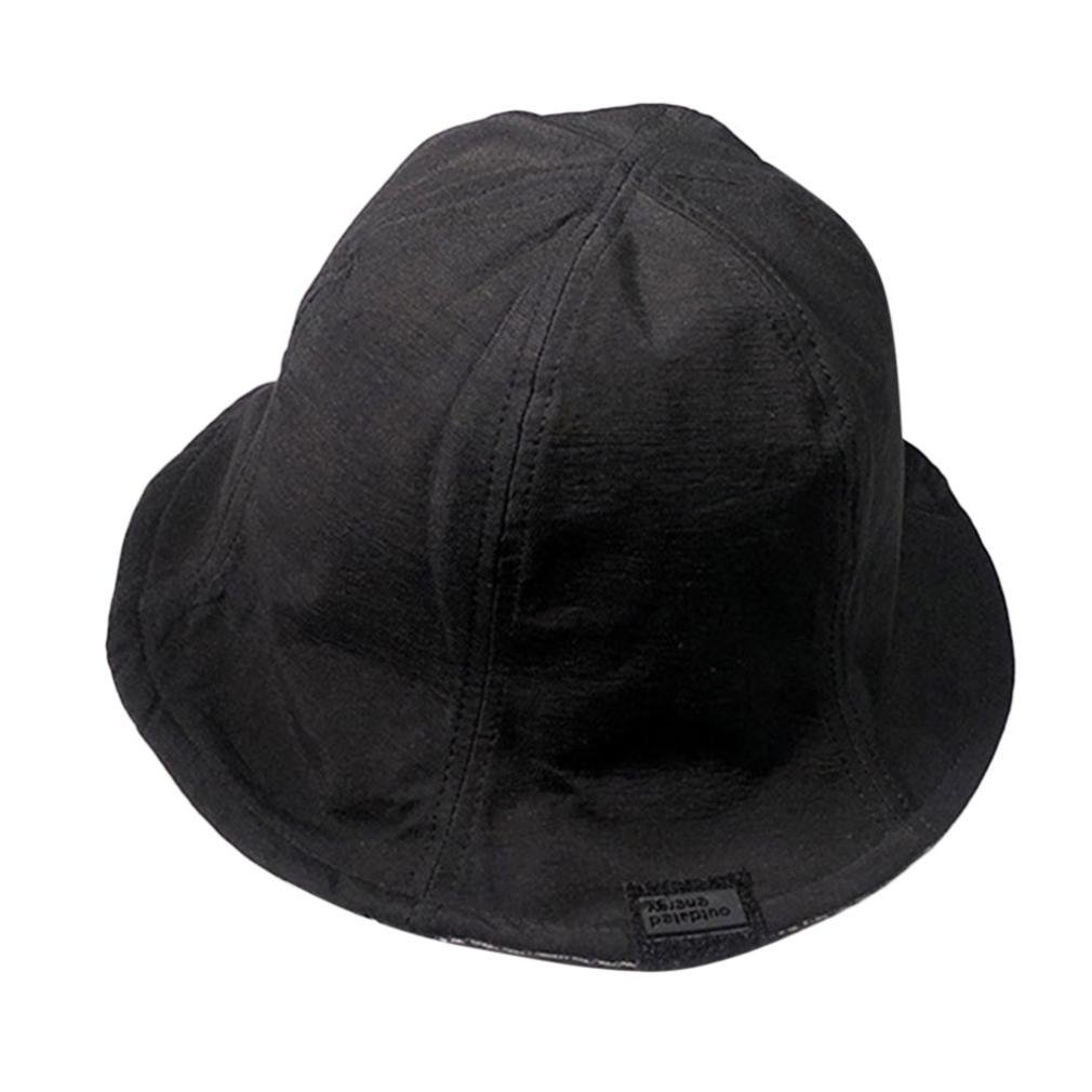 Bucket Hat for Women & Men, Clearance Sale! Iuhan Cotton Men and Women Double-ring Wearing Fisherman Hats Outdoor Sun Visor Caps Collapsible Hats (Black)