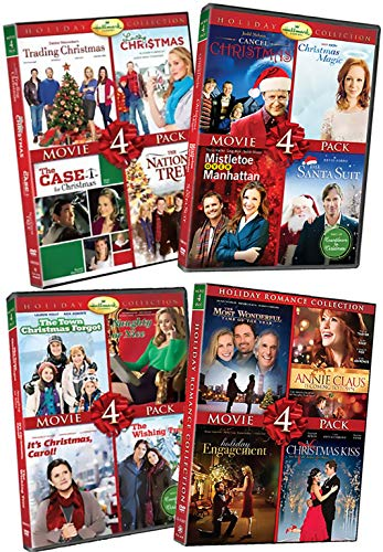 16 NEW DVD Hallmark Holiday Romance Movie Collection Set - Trading Christmas / National Tree / Santa Suit / Mistletoe Over Manhattan / Naughty or Nice / Most Wonderful Time of Year & More! ()