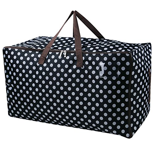 iwill CREATE PRO Large Storage Bags for Seasonal Clothes,Comforters in Closet,Festival Ornament Storage Container,Black ()
