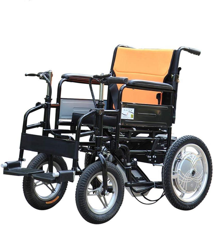 Byx: Silla de Ruedas Eléctrica, Silla de Ruedas para Discapacitados de Edad Avanzada, Cuidado Portátil Plegable, Scooter Eléctrico de 4 Ruedas con un Solo Motor, Capacidad de Carga de 100 Kg, Andador