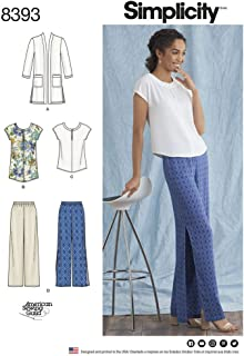 product image for Simplicity Sewing Pattern D0676 / 8393 - Misses' and Plus Size Pants, Tunic or Top, and Knit Cardigan, AA (10-12-14-16-18)