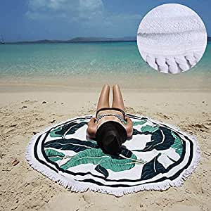 Amazon.com: Beach Towel Terry Cloth- Round Tablecloth
