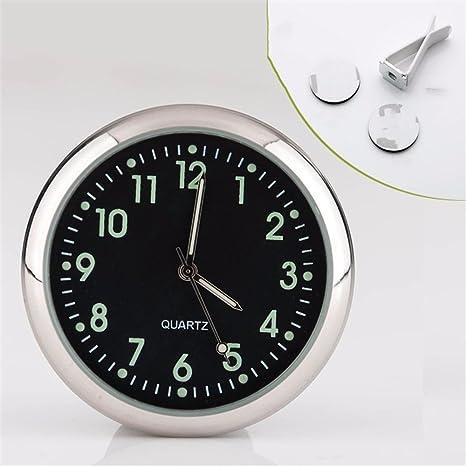 JISHUQICHEFUWU Reloj de Cuarzo de automoción/vehículo/Car/Noche vehículos Ligeros Relojes de