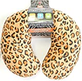 DINY Home & Style Plush Neck Travel Pillow Memory Foam Animal Prints Medium For Kids Teens and Petites (C)