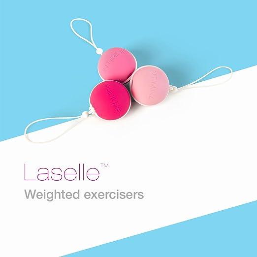 Set de ejercitadores de peso Laselle - Tres pesos para fortalecer el suelo pélvico femenino (28g, 38g, 48g)