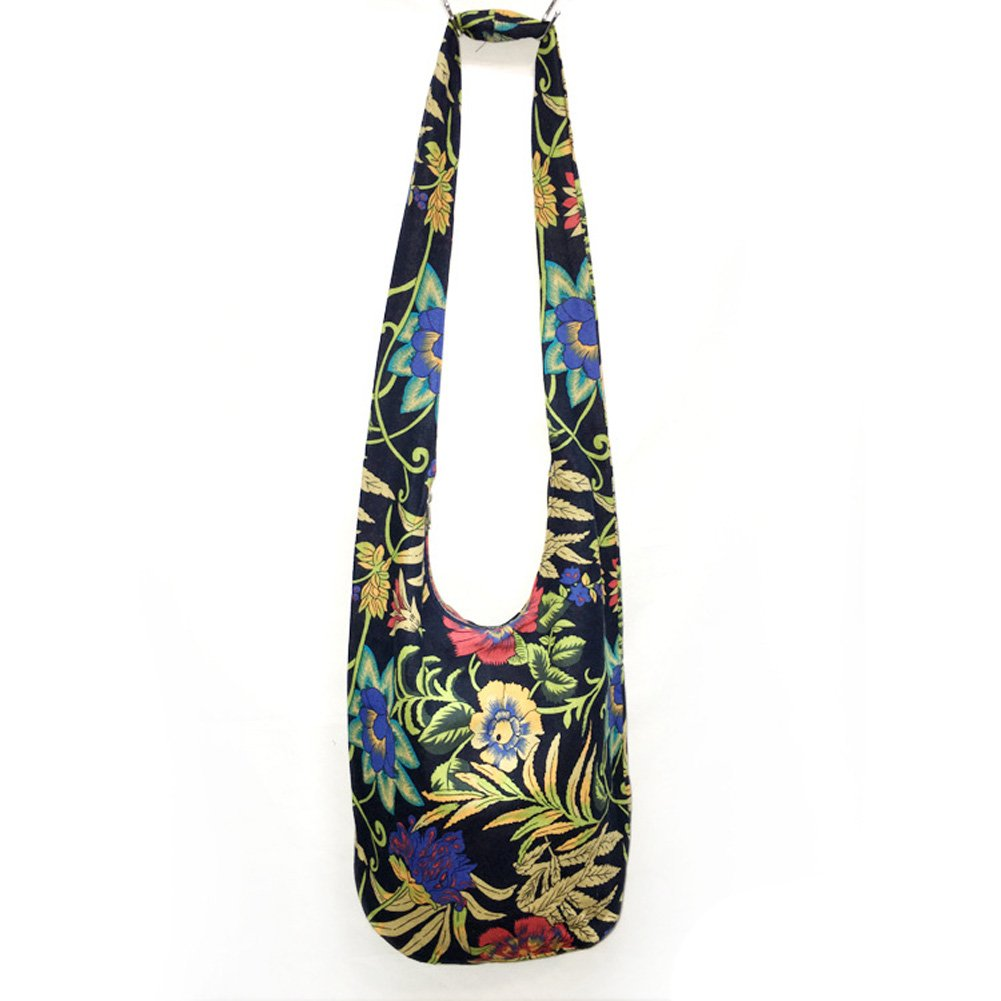 KARRESLY Bohemian Cotton Hippie Crossbody Bag Hobo Sling Bag Handmade Messenger Shoulder Bags cah01801