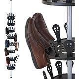 XXL Schuhregal Schuhkarussell Schuhständer Schuhschrank Teleskopregal höhenverstellbar ✔ 8 drehbare Schuhebenen ✔ bietet Platz 96 Schuhe ✔