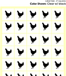 Savor The Memories Meal Stickers for Place Cards (Gold or Black) (Clear with Black Icon, Chicken)