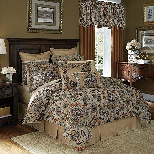 Comforter Jacquard Croscill (Croscill Callisto King Comforter Set, 4 Piece)
