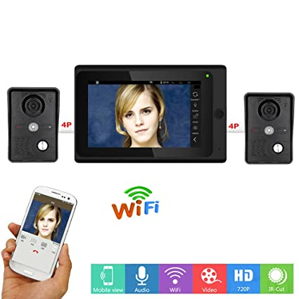 Amazon Maotewang 7 Lcd Wirelesswired Wifi Ip Video Door