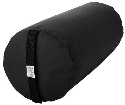 Amazon.com : Bheka Round 100% Cotton Yoga Bolsters (Black ...