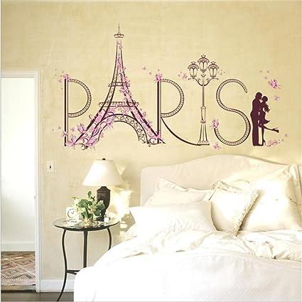Amazon.com: Amtoodopin Eiffel Tower Home Decor Romantic ...