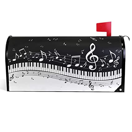 Wamika Music Notes Mailbox Covers Magnetic Piano Keyboard Mailbox Cover  Mailbox Wraps Post Letter Box Cover Garden Decorations Standard Size 18